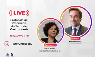 Fórum realiza live para debater retomada das atividades no setor de gastronomia do estado