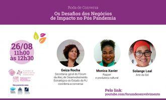 Setor cultural no pós-pandemia é tema de bate-papo com empreendedoras de impacto