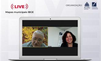 IBGE lança Coleção de Mapas Municipais em live do Fórum