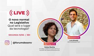 Live no Instagram falará sobre a transformação digital nos parlamentos brasileiros